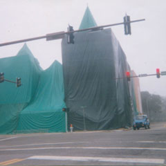 1990's<br />Cloud Termite and Pest Control fumigates historic church in Downtown Bradenton