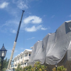Present day<br />Tent fumigation for one of the largest condominiums on Holmes Beach